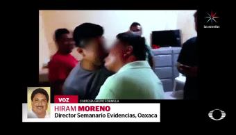 CTM, Oaxaca, deslinda, humilla, taxistas, besándose