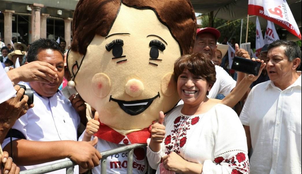 Delfina Gómez, candidata del Morena, visitó Tejupilco