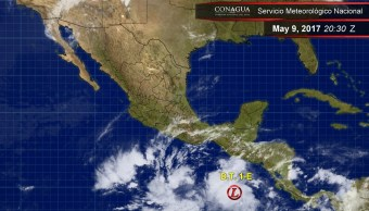Depresión Tropical 1-E en el Pacífico. (Twitter @conagua_clima)