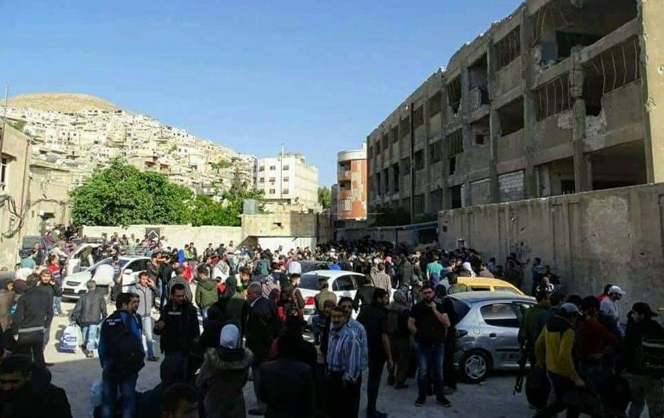 Damasco, desalojo, rebeldes, siria, vecindario, barzeh
