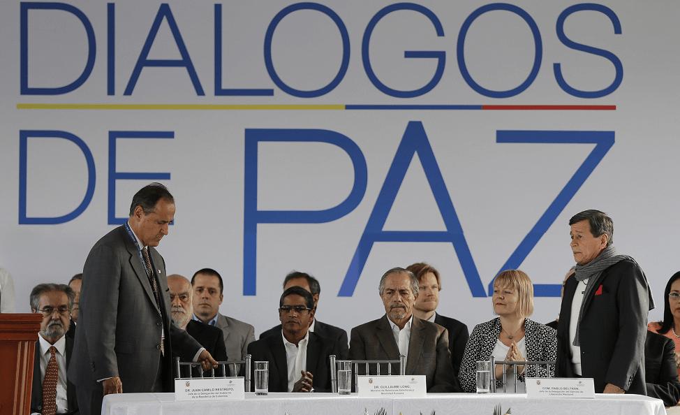 Dialogos de paz entre el gobierno colombiano y el ELN