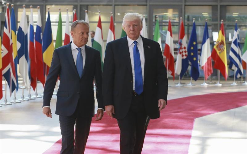 Donald Trump, Consejo Europeo, Bruselas, Bélgica, Donald Tusk, OTAN