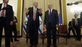 Donald Trump y Benjamin Netanyahu en Jerusalen