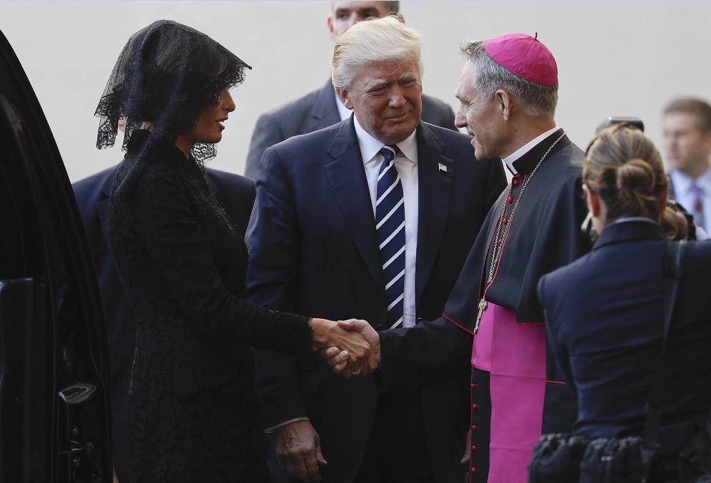 Trump con el Papa: