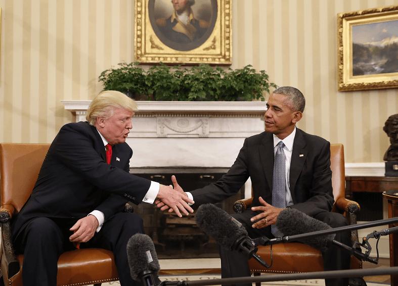 Donald Trump y Barack Obama en la Casa Blanca