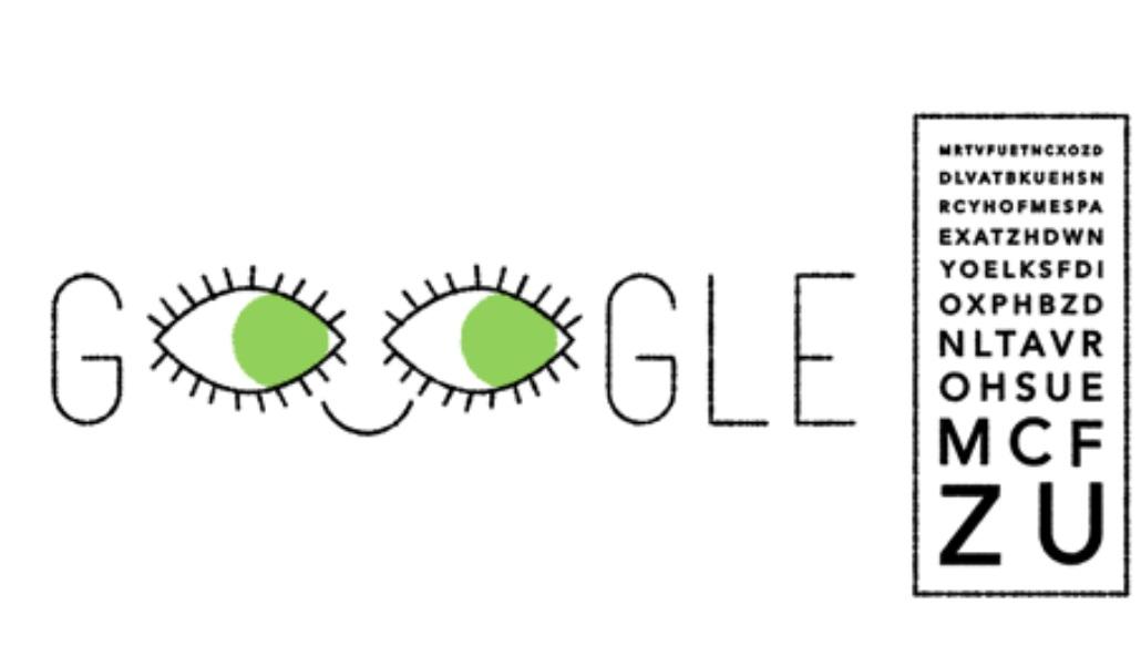 Google recrea con un doodle la tabla o escala de Monoyer (Foto: Google)