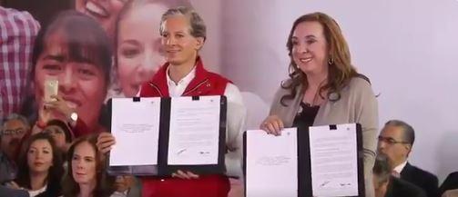 El candidato priísta firmó un convenio contra la trata de personas
