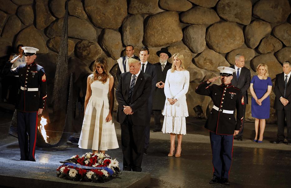 Donald Trump ofrece homenaje a victimas del Holocausto, en Jerusalen
