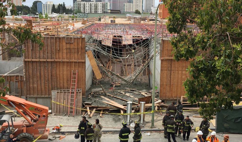 Derrumbe, California, construcción, heridos, obreros, cemento,