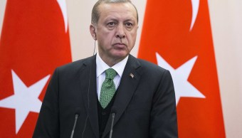 El presidente de Turquía, Recep Tayyip Erdogan, durante una conferencia (Reuters)