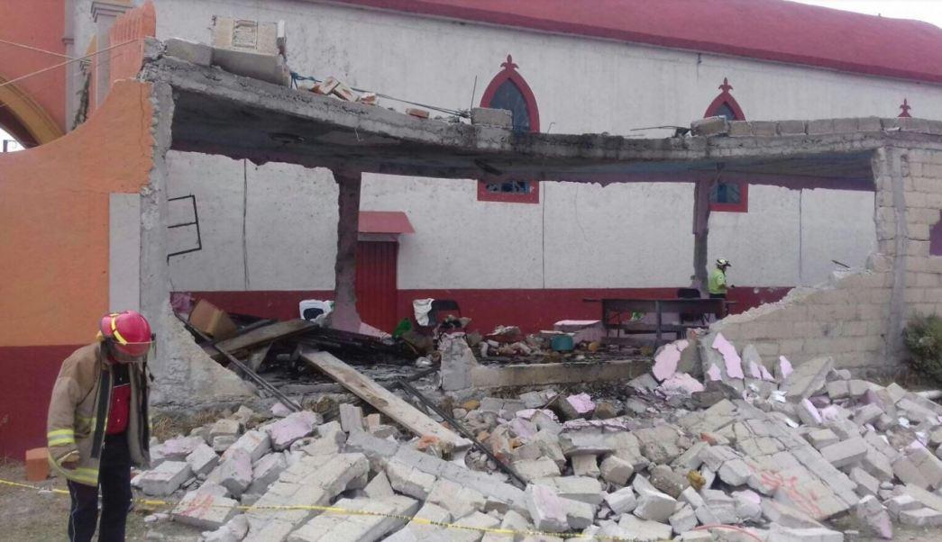 La explosión se registró durante una festividad religiosa en la iglesia de la Virgen de Fátima, en la comunidad de San Pedro la Hortaliza (Corresponsales nacionales)