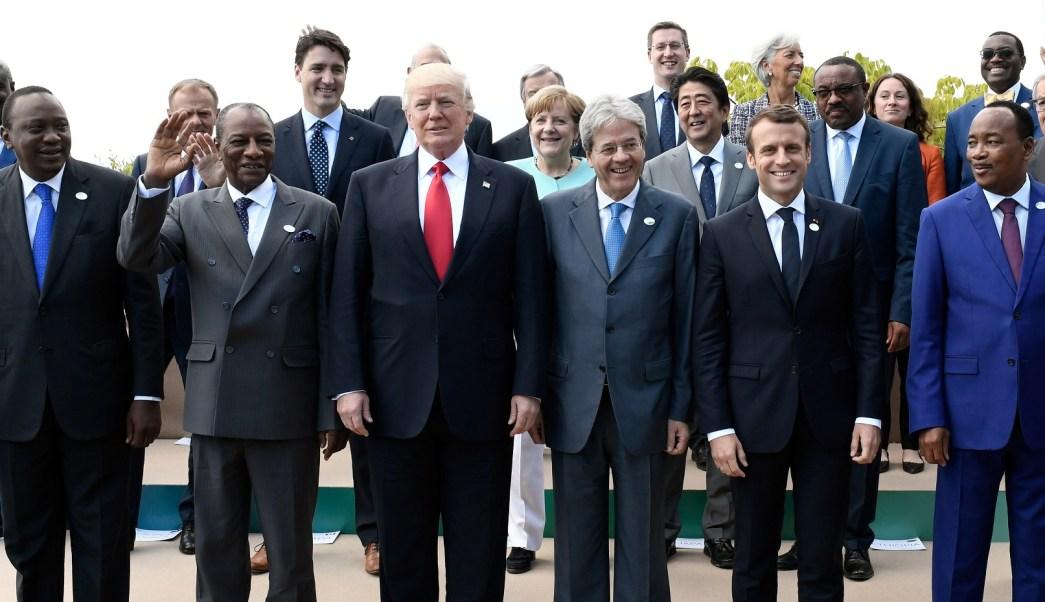 Foto de familia en la cumbre del G7 en Taormina, Italia (Reuters)