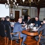 En las instalaciones de la Sedena se reuniéron el Gabinete de Seguridad y el Grupo de Coordinación Contra el Robo de Combustibles. (Notimex)
