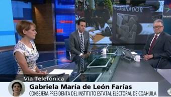 Gabriela María de León, presidenta del Instituto Electoral de Coahuila