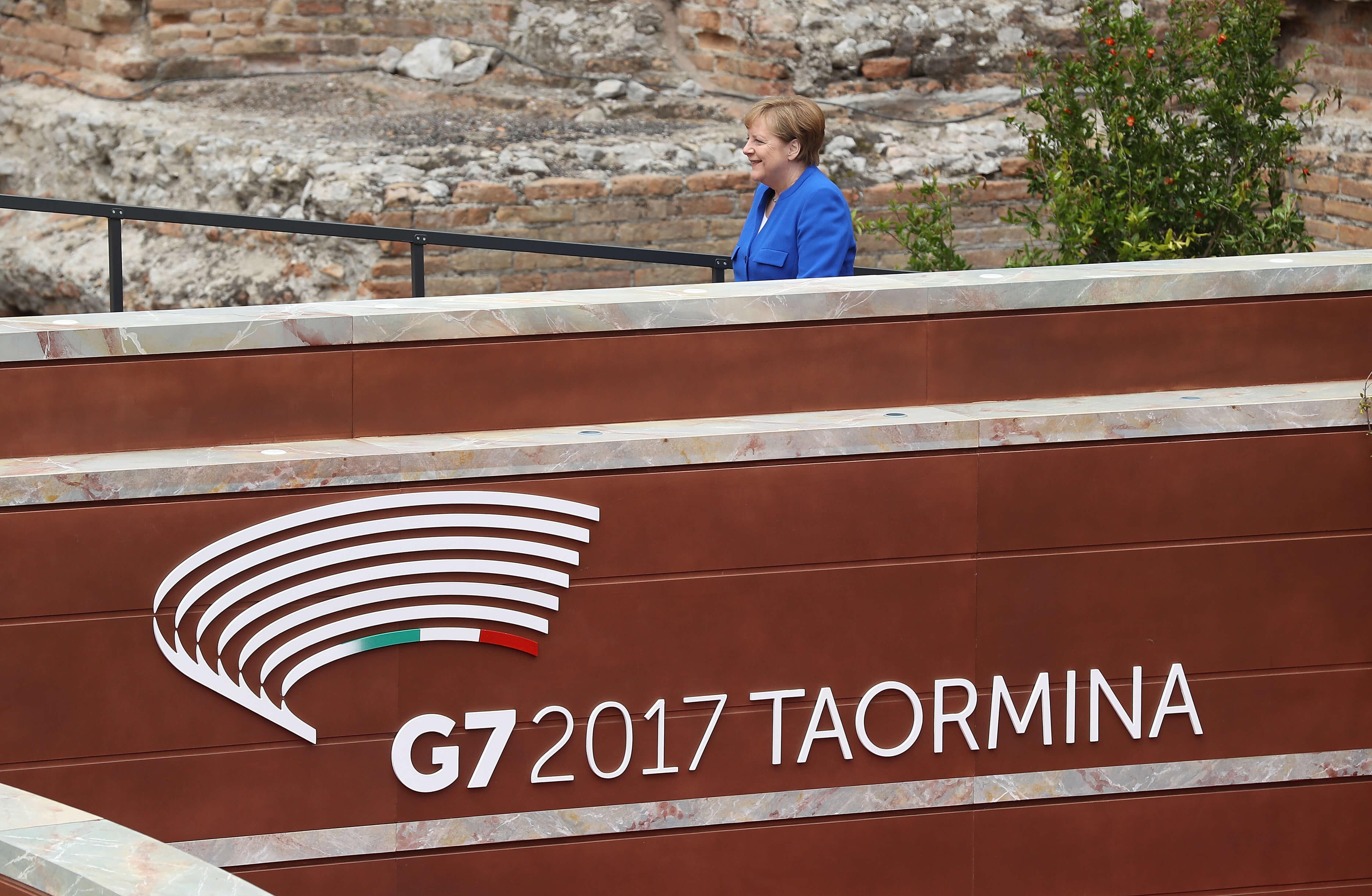 Merkel: discusión sobre cambio climático en G7 fue insatisfactoria