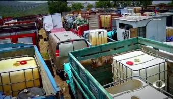 Habilitan, corralones, vehículos, decomisados, huachicoleros, robo de gasolina