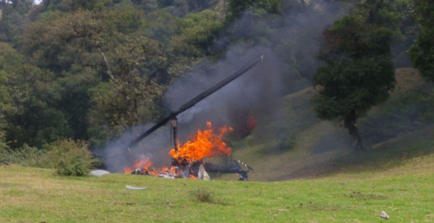 Cae Helicóptero Donde Viajaba el Dirigente del PVEM Marcelo Ruiz