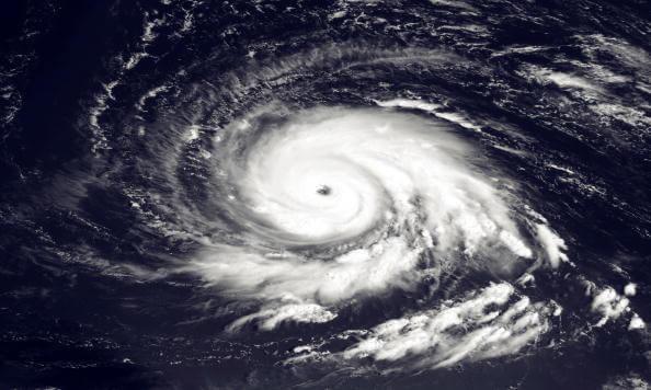 Imagen satelital de Huracán, desastres naturales, océano,
