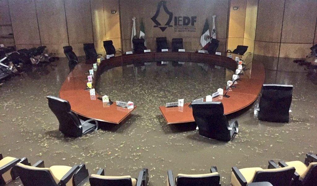 Clima, tormenta, CDMX, IEDF, inundación, seguridad