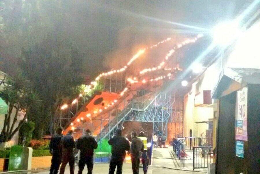 incendio en parque de diversiones en cdmx