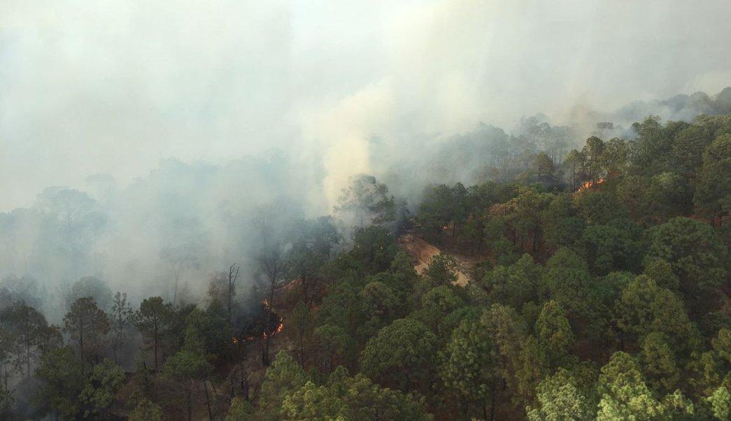 Incendio forestal en Valle de Bravo