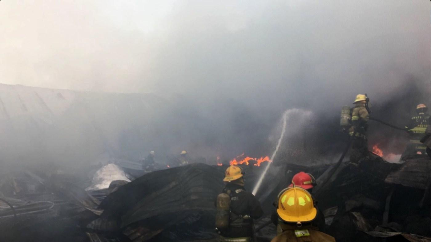 Personal de urgencias atiende incendio en Tlajomulco de zúñiga
