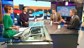 James Steinberg en la mesa de Despierta con Loret. (Twitter, @NTelevisa_com)