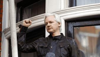 Julian Assange habló desde la embajada de Ecuador en Londres, donde se encuentra recluido