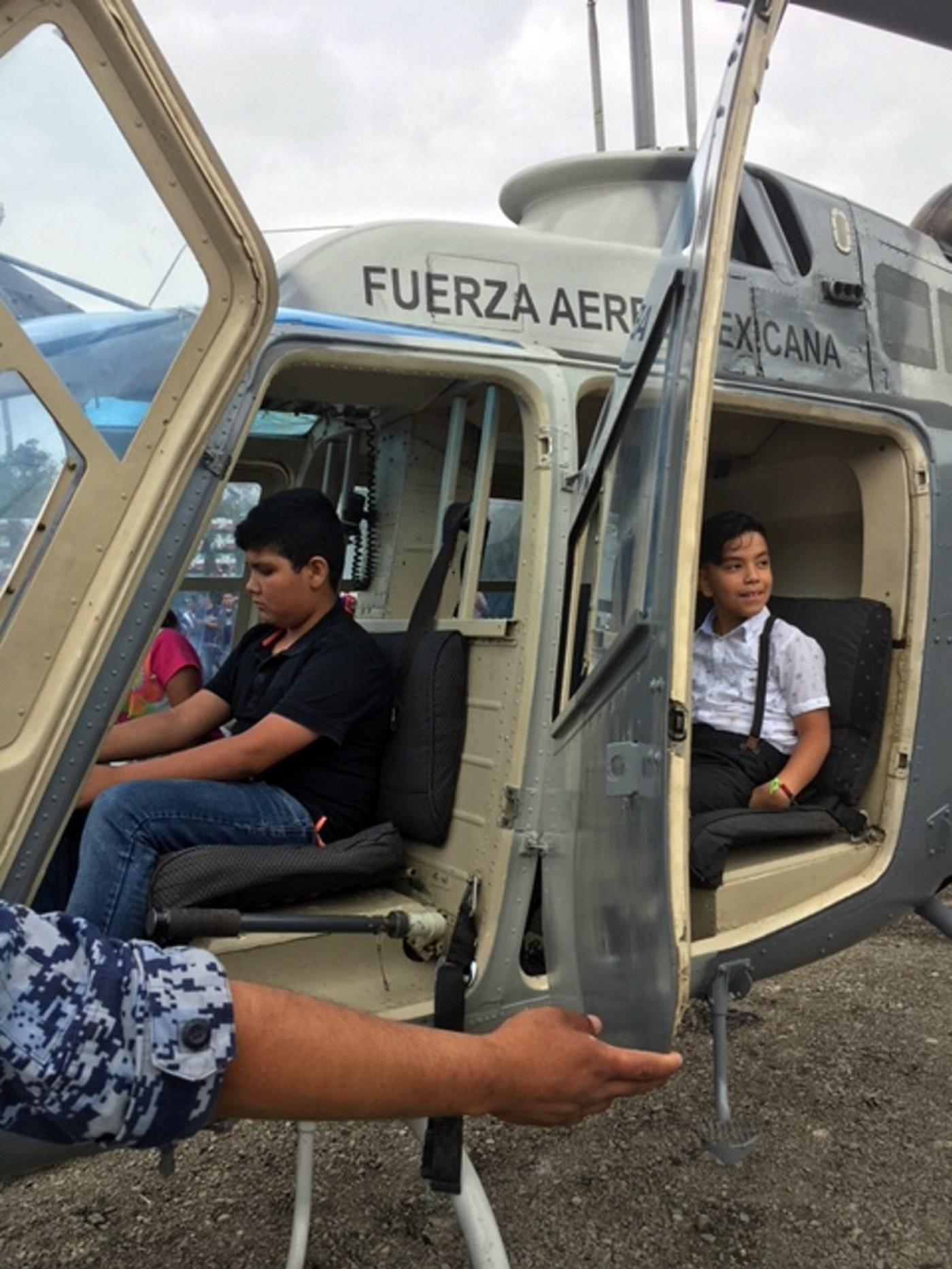 Helicópteros, entre los favoritos de Expo Militar