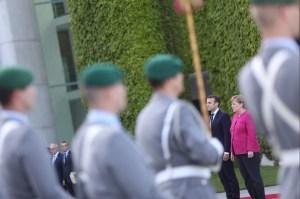 Macron y Merkel se reunen en Berlin, Alemania