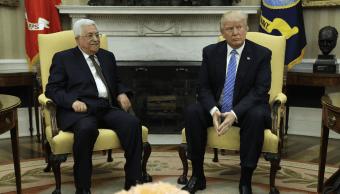Mahmud Abbas y Donald Trump Casa Blanca