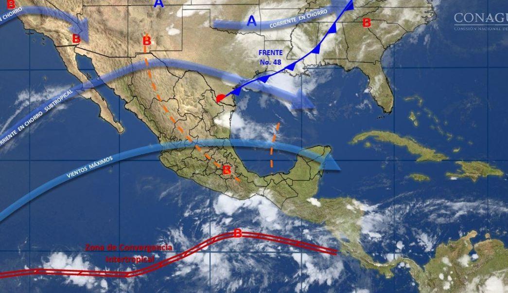 mapa con el clima para este 22 de mayo
