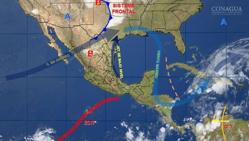 mapa con el clima para este 17 de mayo