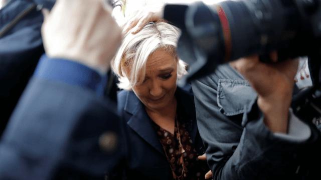 Candidata francesa a la presidencia Marine Le Pen
