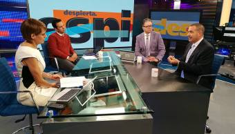 Mauricio Meschoulam en la mesa de Despierta con Loret