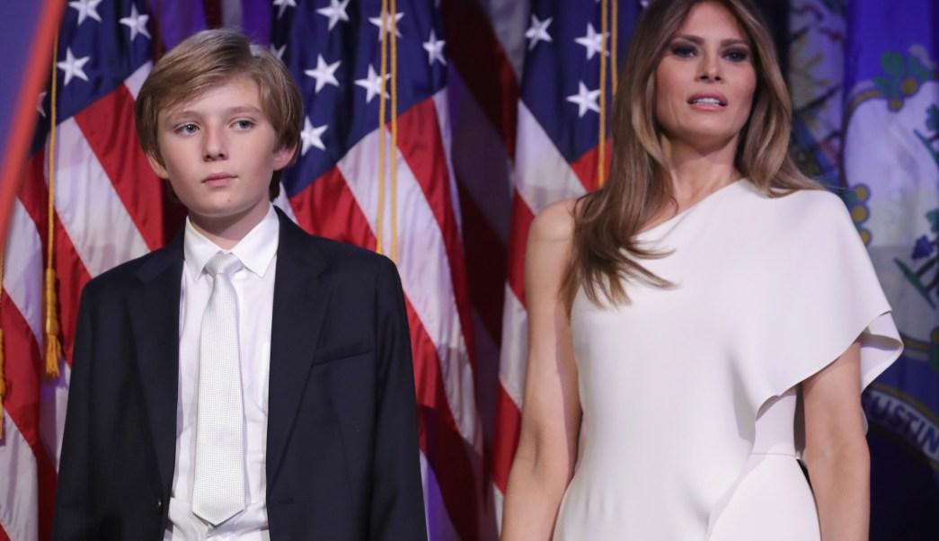 Melania, Barron, Trump, Donald, Casa Blanca, colegio