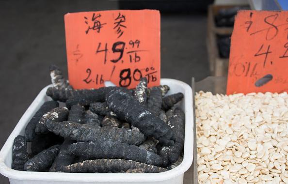 Pepino de mar es vendido en mercados de asia