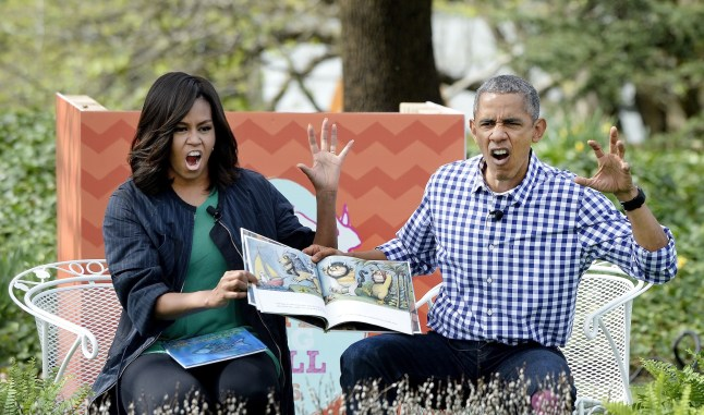 Michelle Obama, Barack Obama, Donde viven los monstruos, where the wild things are, literatura infantil