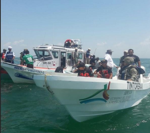 Operativos de vigilancia contra la pesca ilegal en Campeche. (Twitter @Sepesca_Camp, archivo)
