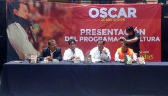 Óscar González, candidato del Partido del Trabajo al gobierno del Edomex