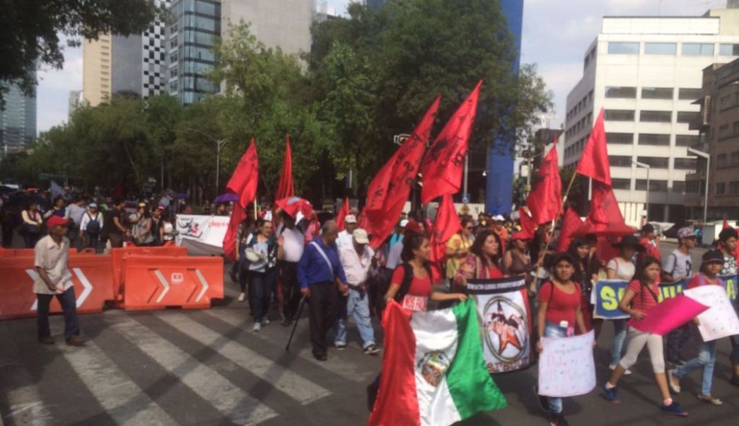 Se realizaron cortes vehiculares sobre Reforma (Twitter @WRADIOMexico)