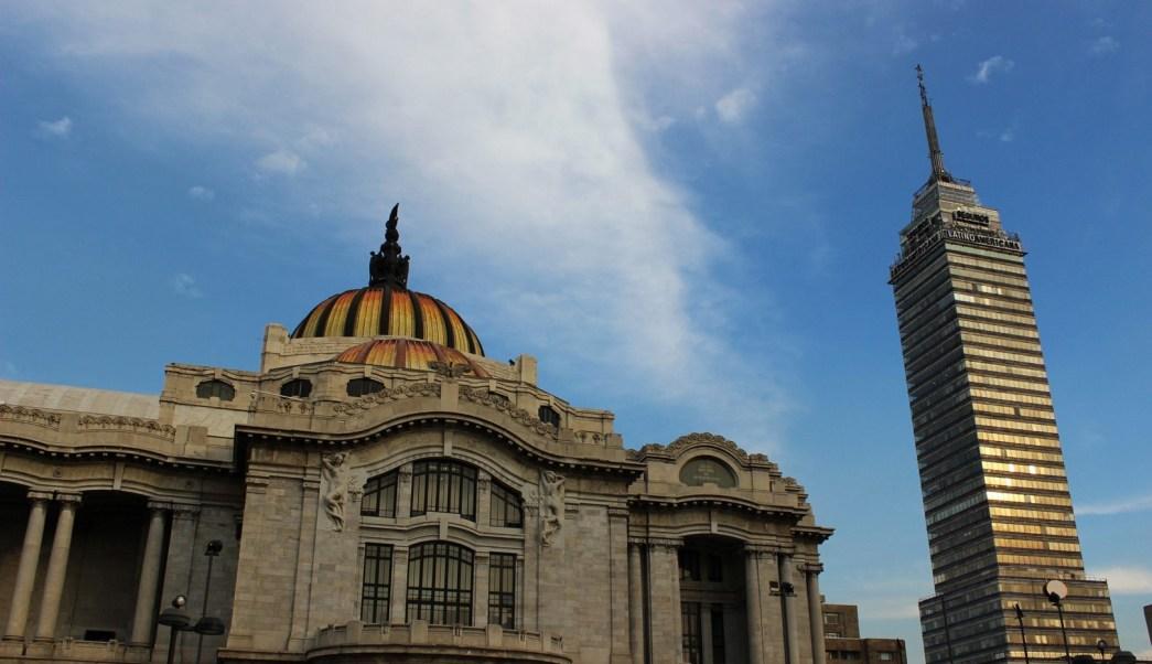 Panoramica del Palacio de Bellas Artes en la CDMX