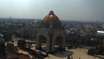 panoramica de la cdmx desde el monumento a la revolucion