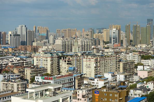 Edificios y construccione en wuhan china