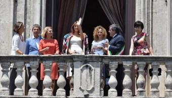 parejas de los líderes del G7, en catania, en el ambito de la cumbre del g7 en taormina