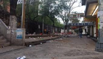 Desmantelan Pasillo de la Salmonela, UNAM