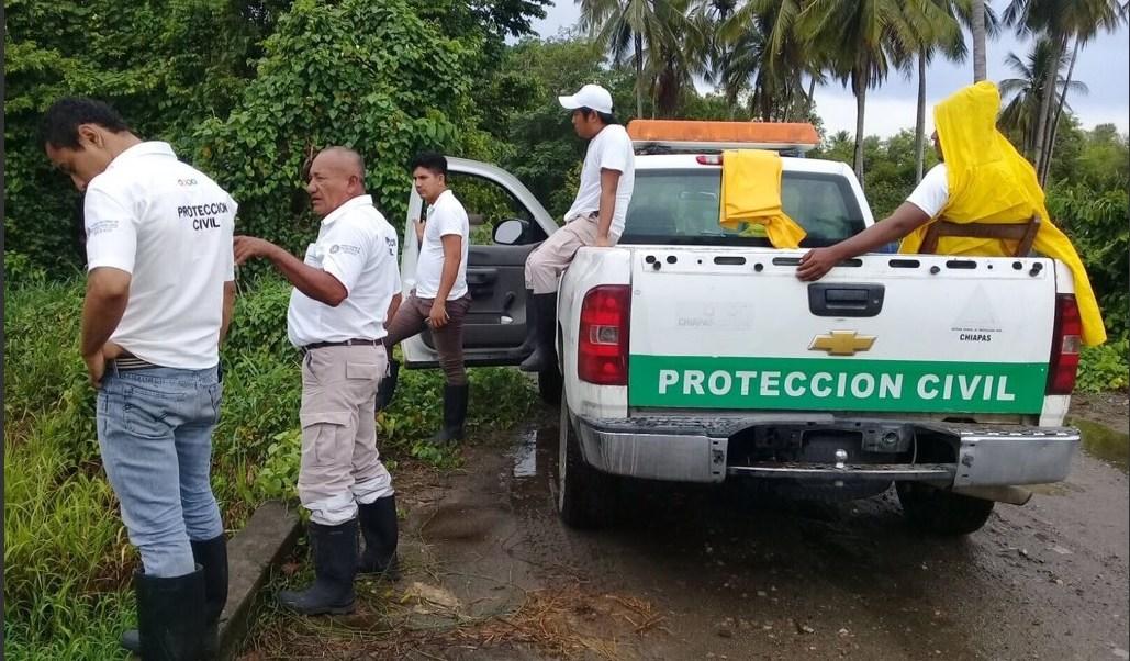 Monitoreo de niveles de ríos y arroyos en Chiapas. (Twitter @pcivilchiapas)
