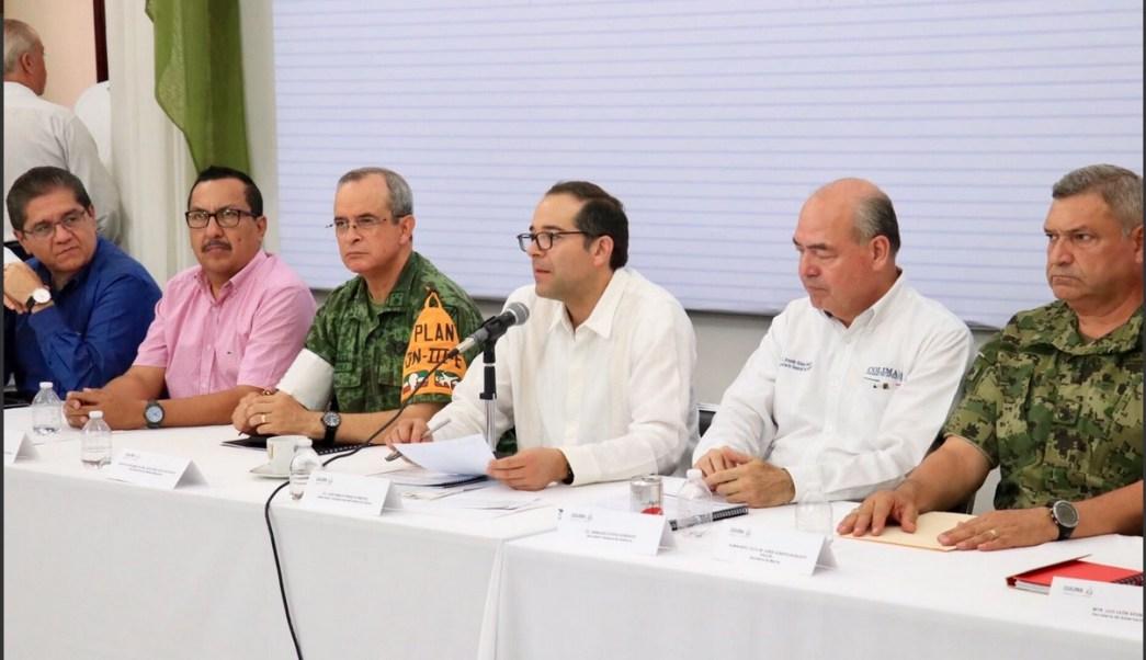 Sesión permanente del Consejo Estatal de Protección Civil en Colima. (Twitter @gobiernocolima)