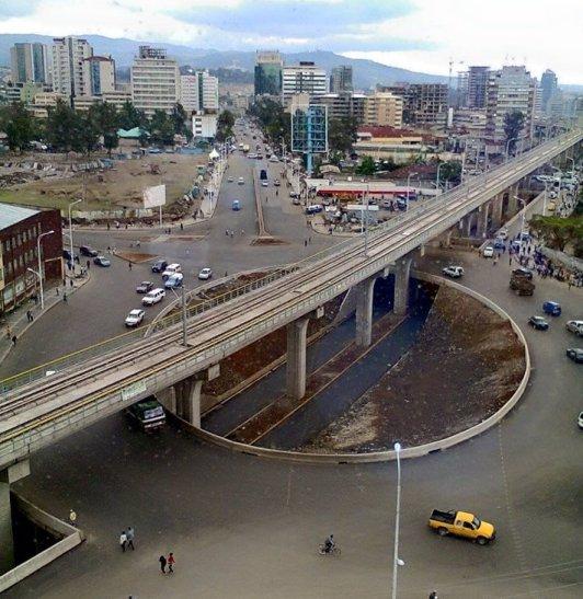 Addis Ababa, Plaza México, México, Etiopía, glorieta