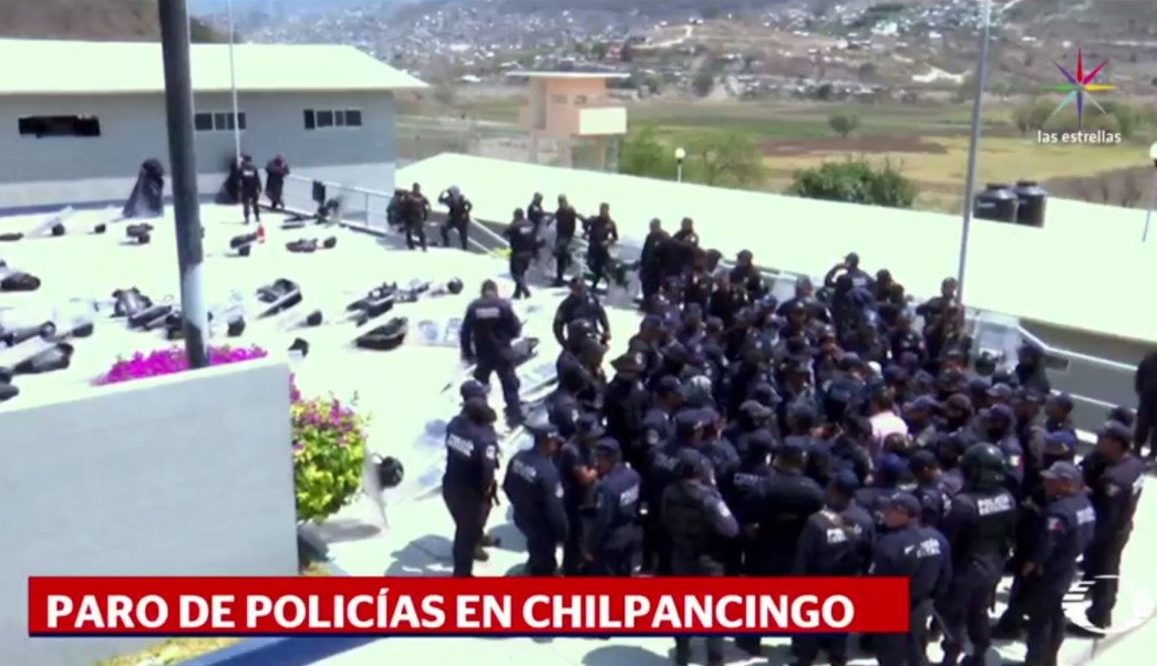 Policías estatales, Chilpancingo, Chilapa, Guerrero, seguridad, paro de labores,